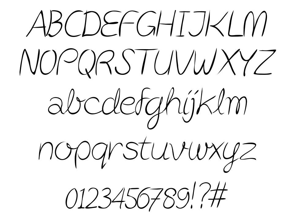 Post-it Penscript font