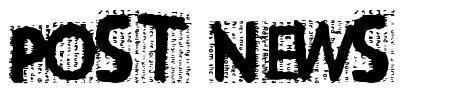 Post News font