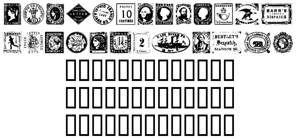 Postage Stamps font