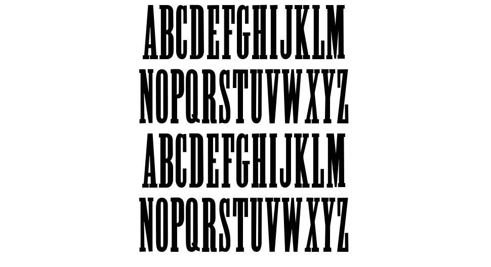 Poster Slab font