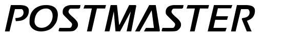 Postmaster font