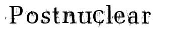 Postnuclear font