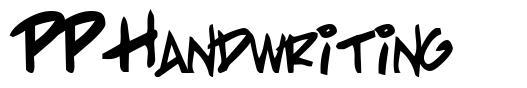 PP Handwriting 字形
