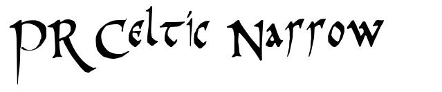 PR Celtic Narrow 字形