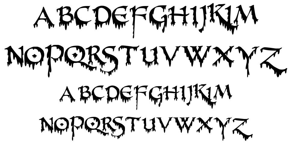 Pr Uncial Creepy Font By Peter Rempel Fontriver