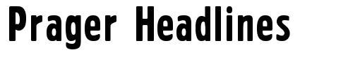 Prager Headlines fonte