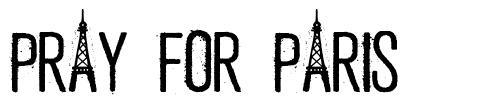 Pray For Paris font