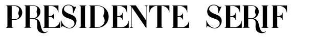 Presidente Serif font