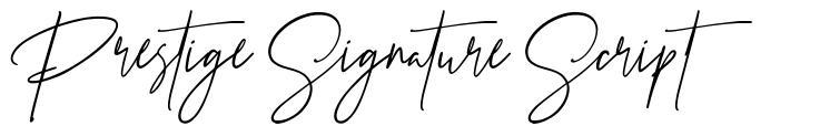 Prestige Signature Script font