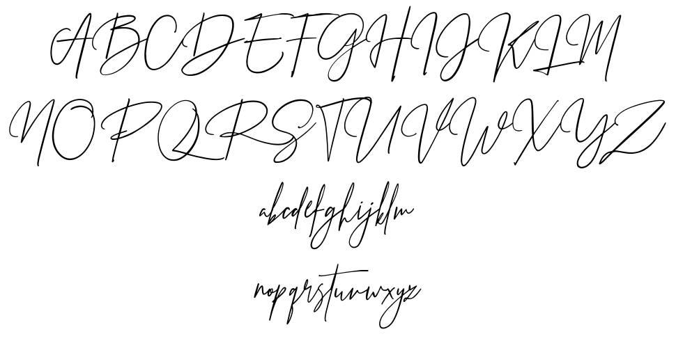 Prestige Signature Script fonte