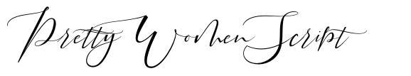 Pretty Women Script font