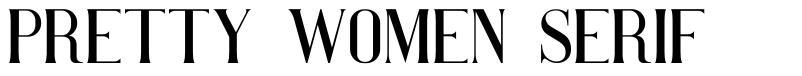 Pretty Women Serif font