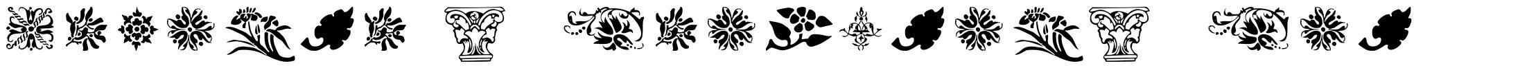 Printer's Ornaments One font