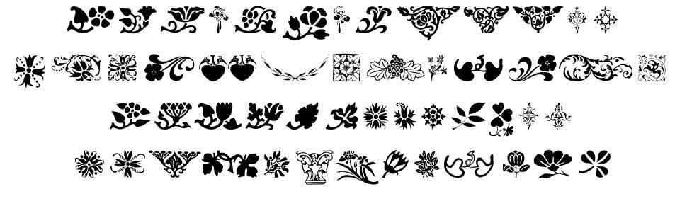 Printer's Ornaments One 字形