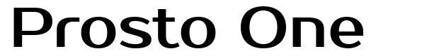 Prosto One font