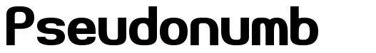 Pseudonumb font