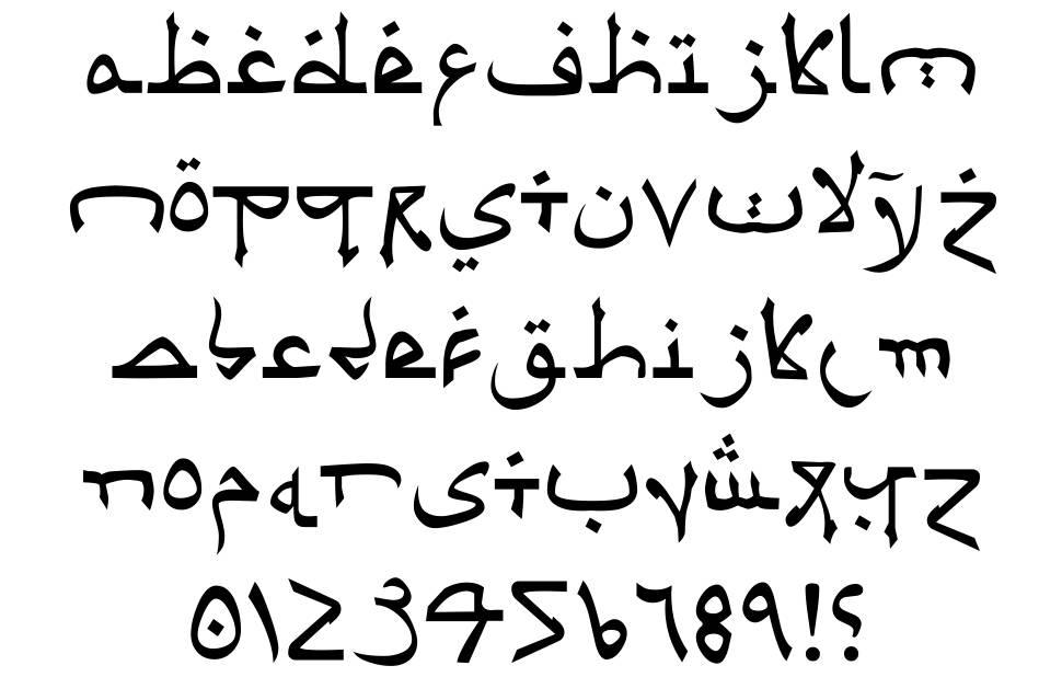 Psuedo Saudi Font By Iconian Fonts