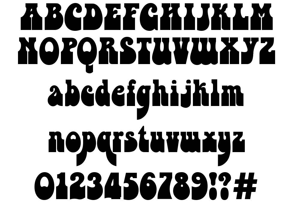 Psychedelia HM font