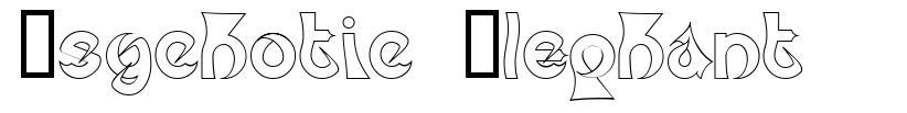 Psychotic Elephant font