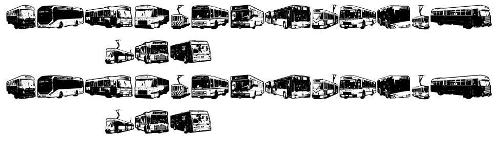 Public Transport font