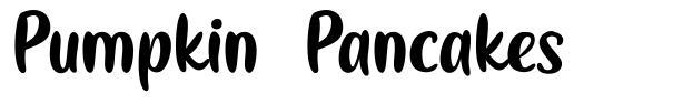 Pumpkin Pancakes font