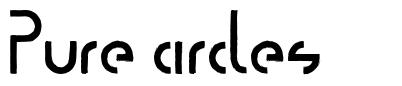 Pure circles font