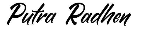 Putra Radhen font