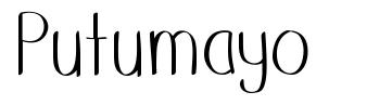 Putumayo шрифт