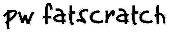 PW Fatscratch font
