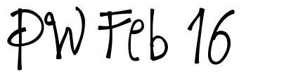 PW Feb 16