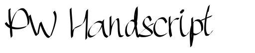 PW Handscript font