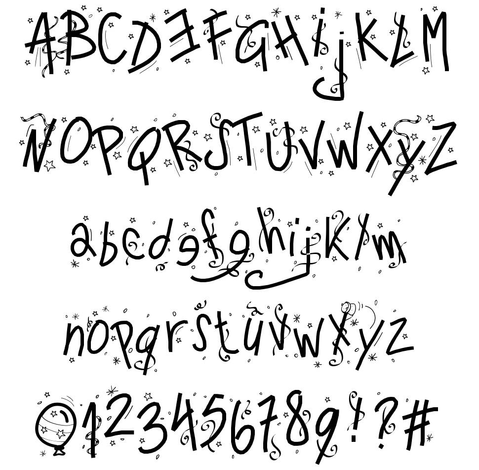 PW Happy New Year font