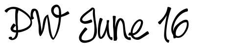 PW June 16