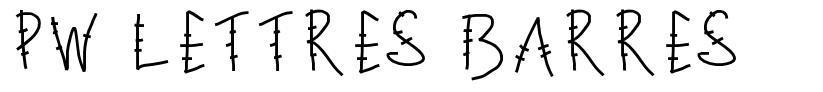 PW Lettres barres