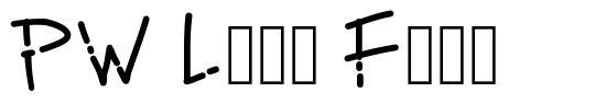 PW Line Font