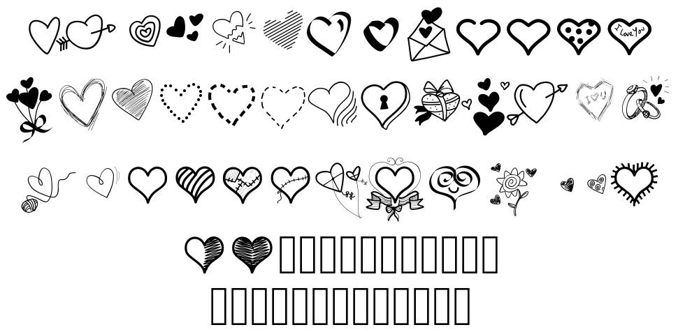 PW Little Hearts font