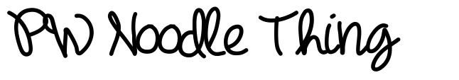 PW Noodle Thing schriftart