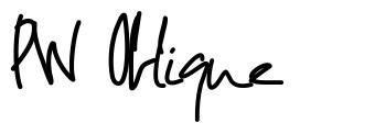 PW Oblique font