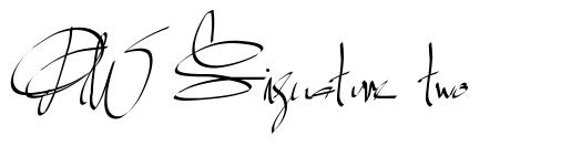 PW Signature two font