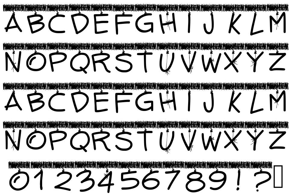 PW Tinsel Letters font