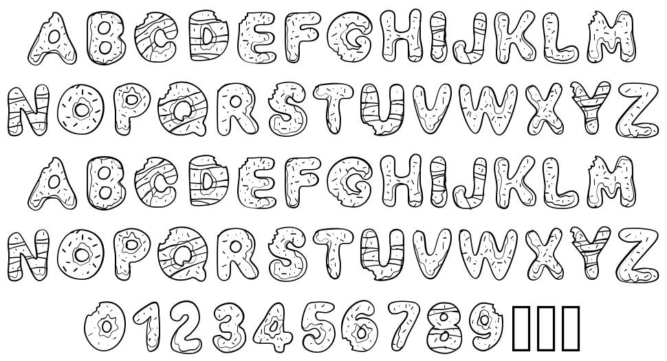 PW Yummy Donuts font