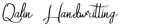 Qalin Handwritting font