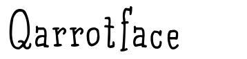 Qarrotface  schriftart