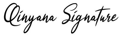 Qinyana Signature шрифт