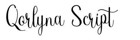 Qorlyna Script font