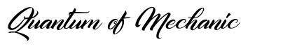 Quantum of Mechanic font