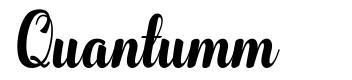 Quantumm font