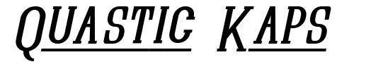 Quastic Kaps шрифт