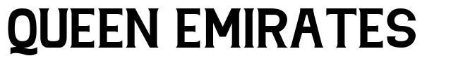 Queen Emirates 字形