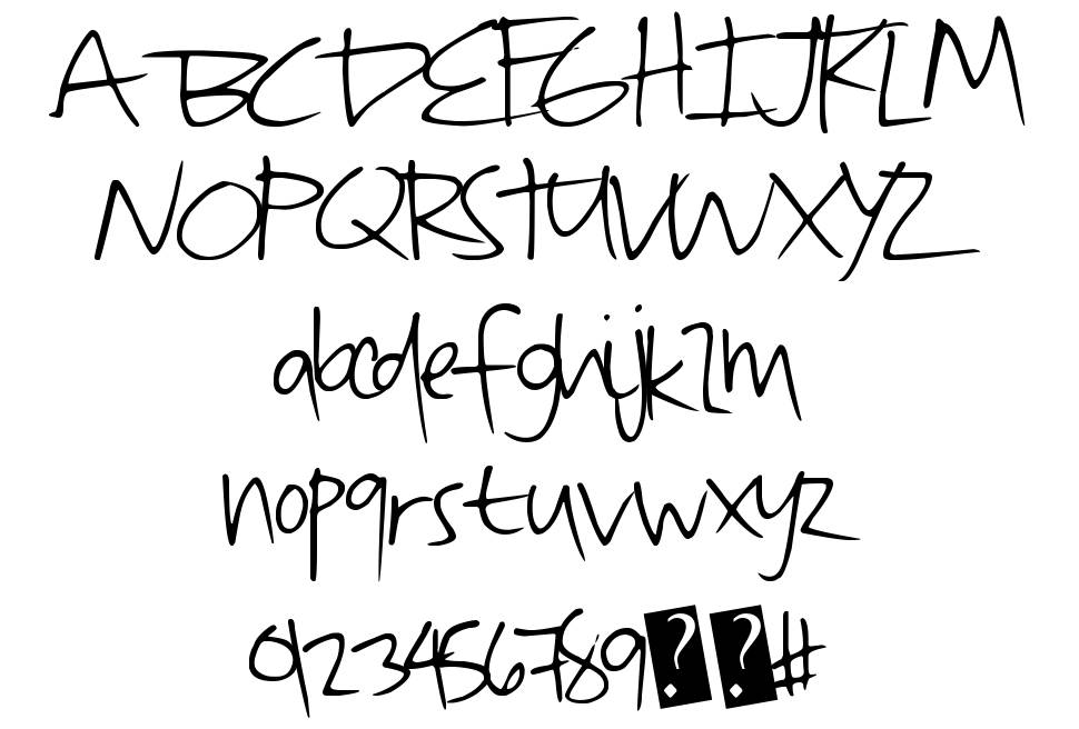 QuickDirty font